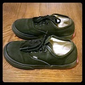 Vans, Black Toddler's Sneakers, Size 10